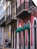 Building Facades in the Old Quarter of San Juan  San Juan  Puerto Rico