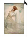 Leo Tolstoy the Russian Novelist Embracing Jesus