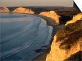 Drakes Beach and the Cliffs at Sunrise  Point Reyes National Seashore  California