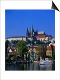 Old Town and Hradcany Castle  Prague  Central Bohemia  Czech Republic