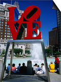 Sculpture in Love Park  Philadelphia  Pennsylvania