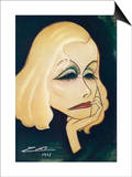 Greta Garbo Swedish-American Film Actress: a Caricature