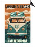 Laguna Beach  California - VW Van