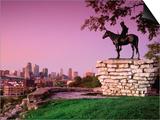 Scout Sculpture at Penn Park  Kansas City  Missouri