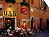 Outside Bar at Trastevere  Rome  Lazio  Italy