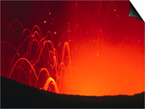 Yasur Volcano Lava Explosion  Tanna Island  Tafea  Vanuatu
