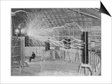 Nikola Tesla Produces Artificial 'Lighting'