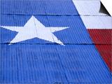 Texas Flag Painted on Barn Roof  Austin  Texas
