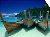 Longtail Boats at Ao Lo Dalam  Ko Phi-Phi Don  Krabi  Thailand