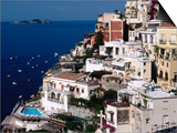 House Terraced into Amalfi Coastline  Positano  Italy