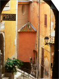 Village Laneway and House Walls  Roquebrune  Provence-Alpes-Cote d'Azur  France