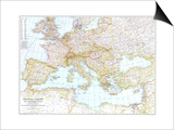 1939 Central Europe and the Mediterranean Map