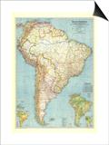 1942 South America Map
