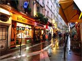 Qaurtier   Latin Quarter at Night  Rue de la Huchette  Paris  Ile-De-France  France