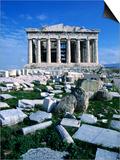 Parthenon at Acropolis (Sacred Rock)  Athens  Greece