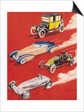 Four Very Different and Unequally Advantaged Cars Racing