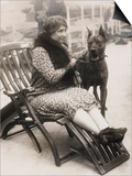 Helen Keller with Her Great Dane