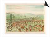 Large Crowd of Native Americans Play Lacrosse