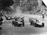 Start of 1961 Monaco Grand Prix  Stirling Moss in Car 20  Lotus 18 Who Won the Race