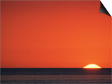 Sun Setting Over Gulf of Mexico  Florida  USA