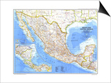 1980 Mexico and Central America Map