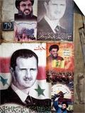 Political Posters of President Bashar Al-Assad  Syria