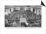Immigrants Waiting Inspection in the Great Assembly Hall at Ellis Island New York