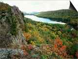 Porcupine Mountains Wilderness State Park in Autumn  Michigan  USA