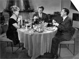 Jean-Paul Belmondo  Paul Meurisse and Dany Robin: La Francaise et L'Amour  1960