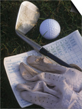 Golf Ball  Club  Golf Glove  and Score Card