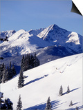 Distant View of Downhill Skiers  Vail  CO