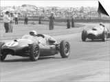 Jack Brabham leads in his Cooper T45  1958 British Grand Prix