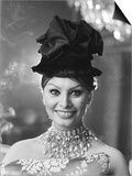 Sophia Loren in a Christian Dior dress