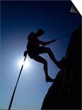 Silhouette of Rock Climber  Boulder  Colorado  USA