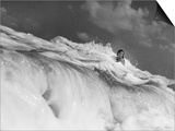 S Florida  Woman Playing in Surf