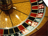 Close-up of a Roulette Wheel