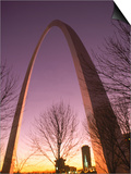 Gateway Arch and Skyline of St Louis  Missouri