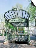Abbesses Metro Station  Paris  France