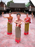 Traditional Thai Dancers  Old Chiang Mai Cultural Centre  Chiang Mai  Thailand  Southeast Asia