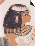 Wall Painting of Daughter of Nakht from Hunt Scene in the Tomb of Nakht