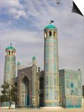 White Pigeons Fly Around the Shrine of Hazrat Ali  Mazar-I-Sharif  Afghanistan