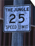 The Jungle 25 Mph Street Sign