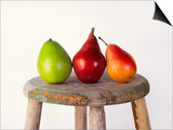 Still Life of 3 Pears on a Milk Stool