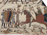 King Harold's Foot Soldieres with Spears and Battle Axes  Bayeux Tapestry  Normandy  France