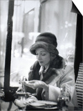 Marlene Dietrich (1901-1992) in a Cafe