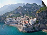 Town at the Waterfront  Amalfi  Atrani  Amalfi Coast  Salerno  Campania  Italy