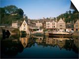 Port of Dinan  La Rance  Bretagne (Brittany)  France