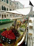 Canalside Vegetable Market Stall  Venice  Veneto  Italy