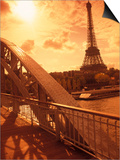 France  Paris  Eiffel and Passerelle