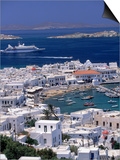 Aerial View of Mykonos Town  Mykonos  Greece